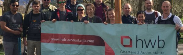 HWB team climbs UK's highest peaks and raises £4,000 for charity